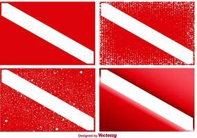 Vektor uppsättning av Dive Flaggor
