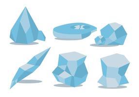 Isålder vektor uppsättning