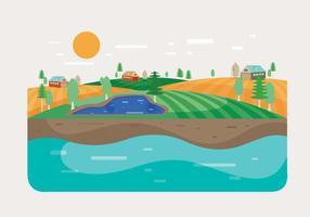 Agro landskap vektor