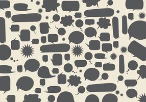 Freie Sprechblasen Hintergrund Vektor
