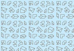 Umrissgeometrisches Muster vektor