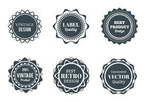 Free Vector Wappen, Etiketten und Abzeichen gesetzt