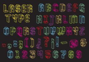 Lasertypvektor vektor