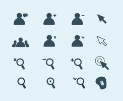 Gratis vektor webb ikoner, pilar, människor, musmatta