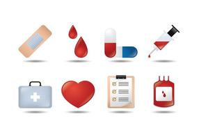 Medicinska 3D ikon vektorer