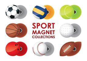 Sport Magnet Kollektionen vektor