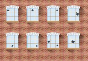 Trasig fönstervektor