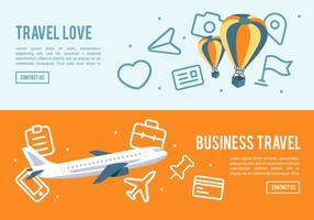 Flat Travel Icon Sammlung Vektor Hintergrund