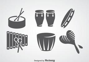 Salsa musikinstrument vektor uppsättningar