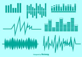 Vector Audio Symbole gesetzt