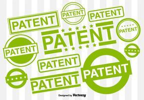 Vektor uppsättning av patenterade gummistämplar