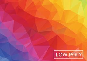 Low Poly Regenbogen Zusammenfassung Hintergrund Vektor