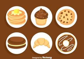 Süße Kuchen Vektor Sets