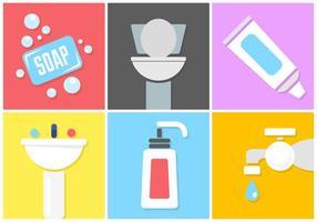 Set av hygienvektorelement