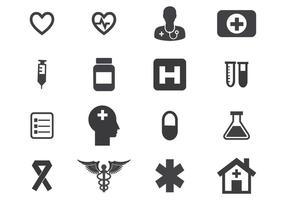 Gratis medicinsk ikonuppsättning vektor