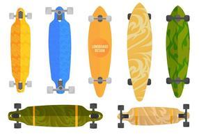 Free vector longboard set