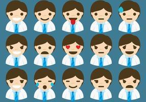 Läkare Emoticons vektor