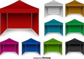 Vektor Pop-up-Pavillon-Set
