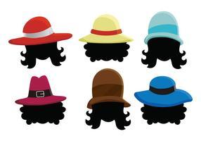 Damer hatt vektor