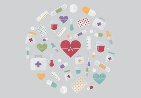 Medizinische Elemente Vektor