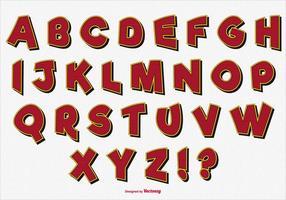 Gulligt dekorativt alfabet set