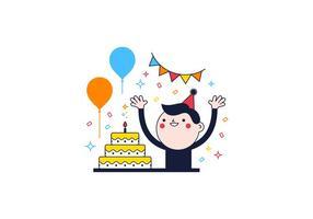 Freier Geburtstag Vektor