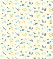 Sommar strand ikoner mönster vektor