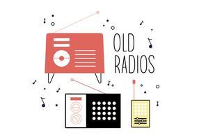 Kostenlose Old Radios Vektor