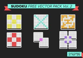 Sudoku kostenlos vektor pack vol. 2