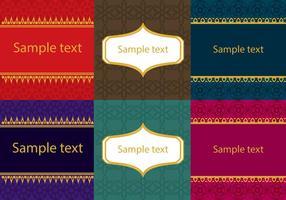 Set av asiatiska thailändska mönster