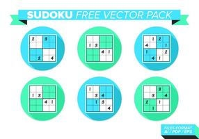 Sudoku kostenloses Vektor Pack