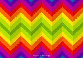 Free Zickzack Regenbogen Vektor Hintergrund