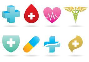 Medicinska logotyper vektor