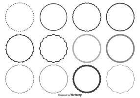 Kreisformen gesetzt vektor