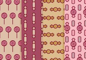 Vektor sötsaker och godis mönster