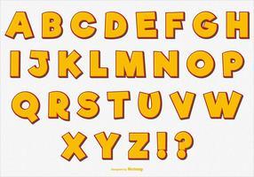 Spaß Vektor Alphabet Set