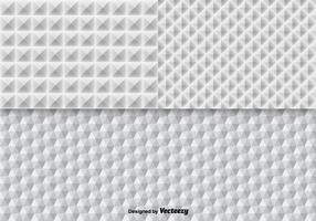 Weiße geometrische nahtlose Mustervektoren