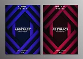 uppsättning abstrakta minimala omslagsdesign vektor