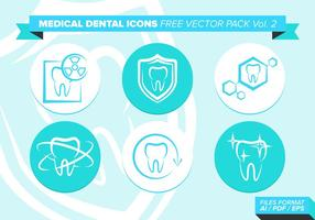 Medizinische Dental Icons Free Vector Pack Vol. 2