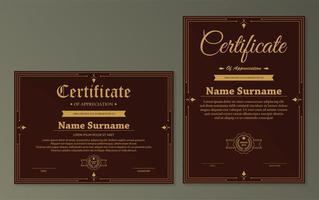 certifikat för uppskattning mall