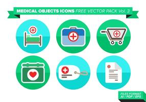Medizinische Objets Icons Free Vector Pack Vol. 3