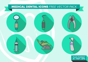 Medicinska Dental Ikoner Gratis Vector Pack