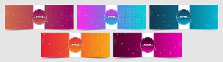 uppsättning färgglada abstrakta lutning färgade bakgrunder vektor