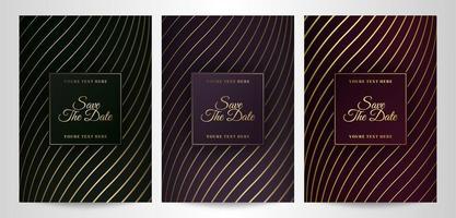 Luxus Vintage speichern die Datumsvorlagen vektor