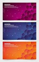 samling av djärva och färgglada gradientbanners