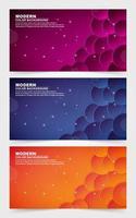 Sammlung von kühnen und farbenfrohen Farbverlaufsbannern vektor
