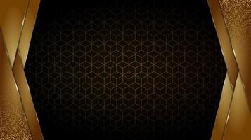 svart och guld lyxig bakgrund vektor