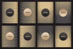 geometrischer Würfelhintergrund mit braunen und schwarzen Farben vektor