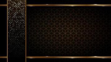 svart och guld bakgrund vektor