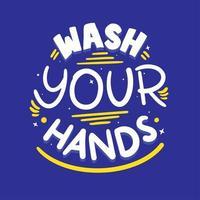 Gelb und Blau waschen Ihre Hände vektor